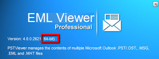 Screen image of 64bit PstViewer Pro email viewer.