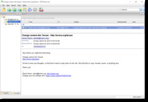 Screen shot of .eml file viewer, PstViewer Lite.